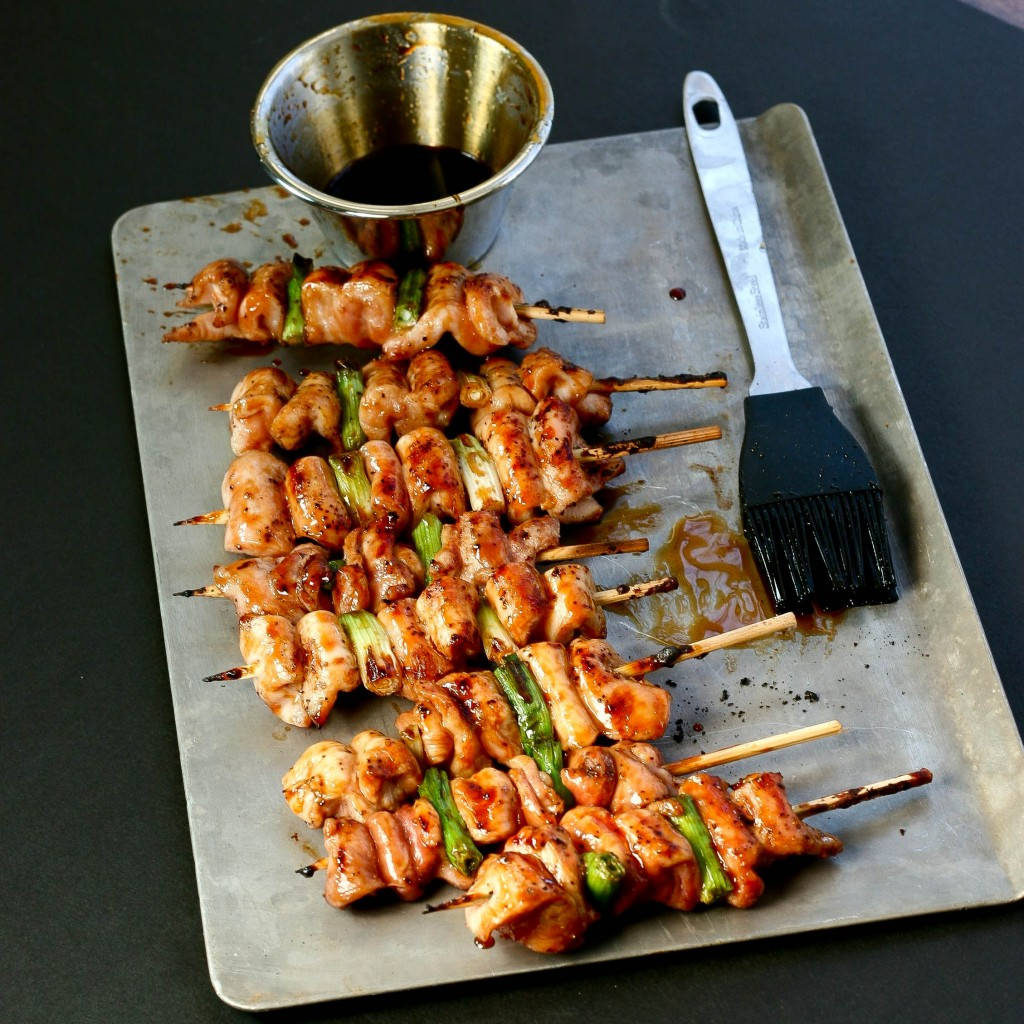 Japanese Grilled Chicken Skewers with Scallions