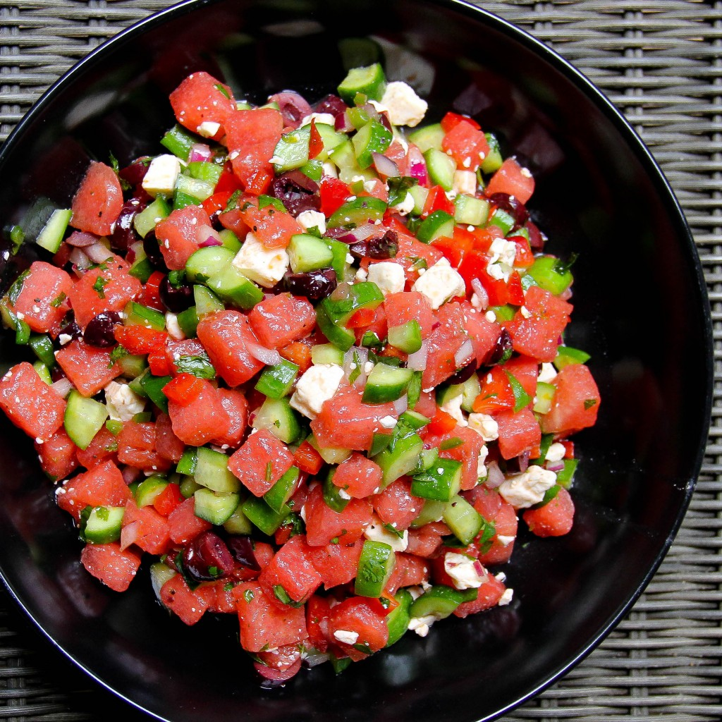 Herbed Watermelon Salad With Feta